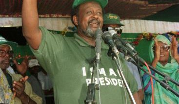 Djibouti's president Ismail Omar Guelleh campaigns in the countryside in 1999.