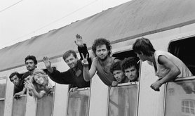 Albanian refugees in Germany 1990