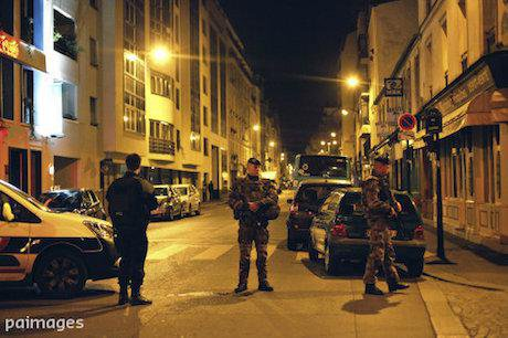 Soldiers on the streets of Paris. Thibault Camus/AP/Press Association Images. All rights reserved.