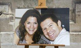 Photo of Jean-Baptiste Salvaing and partner Jessica Schneider. Kamil Zihnioglu/AP/Press Association. All rights reserved.