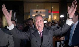 Nigel Farage at Leave.EU party. Stefan Rousseau/PA Wire/Press Association Images. All rights reserved.