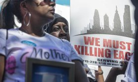 Mothers at a rally against gun violence, Philadelphia 2016.