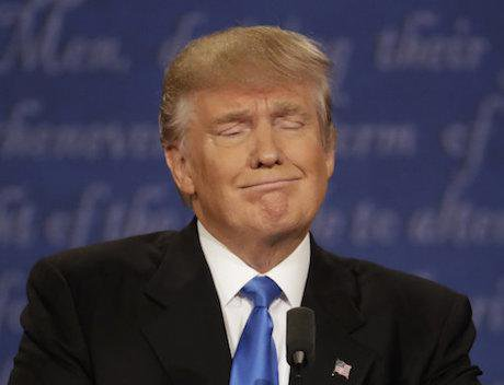 Donald Trump at Monday's presidential debate. Patrick Semansky/AP/Press Association Images. All rights reserved.