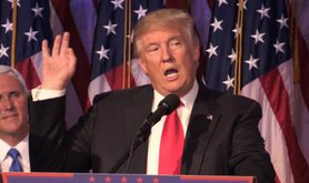Donald Trump makes his acceptance speech in New York. (Paco Anselmi PA Wire/PA Images)