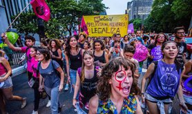 Abortion rights protest in Sao Paulo, December 2016.
