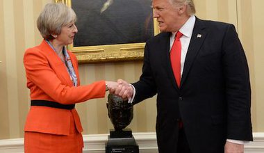 Theresa May and Donald Trump. Stefan Rousseau/PA Wire/PA Images. All rights reserved.