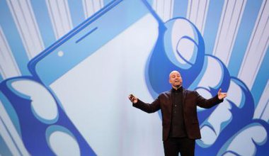 Facebook's advertising expert Andrew Bosworth, 2017. Christian Charisius/DPA/PA Images. All rights reserved.