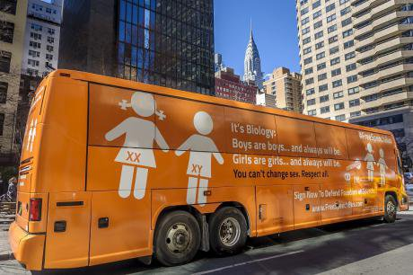 """CitizenGo's """"hate bus"""" in New York."""