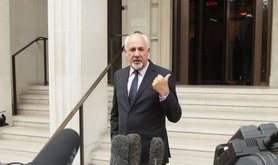 Labour politician Jon Trickett speaks to the media outside the Institute of Engineering in London in 2017