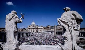 A mass in St. Peter's Square at the Vatican