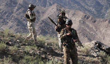 Afghan security force members take part in a military operation against Islamic State (IS) in Marawar district of eastern Kunar province, Afghanistan, Oct. 14, 2017