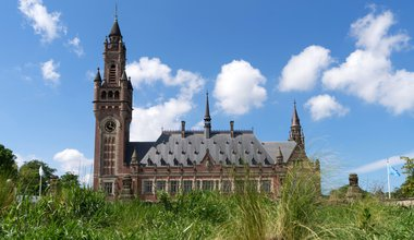 The Peace Palace in The Hague. It houses the International Court of Justice which is the principal judicial body of the United Nations. Photo from 20. May 2017