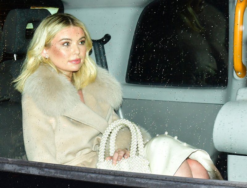 Reality TV star Georgia Toffolo arrives for the Conservative Party Black & White Ball at Battersea