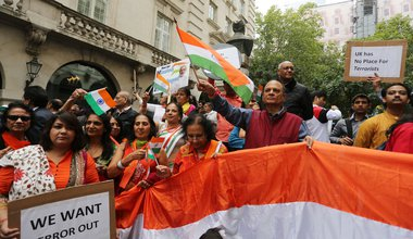Freedom For Kashmir protest at Indian High Commission, 15 August 2019