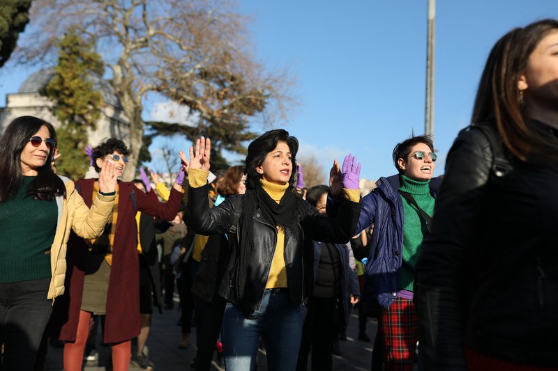 ''Don't stop the women, stop the femicides'' – Istanbul protest, December 15, 2019.