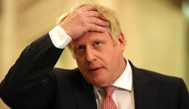 Boris Johnson, speaking in the Parliament Buildings, Stormont, Belfast, whilst on a visit to meet the leaders of the restored powersharing government., 13 January 2020