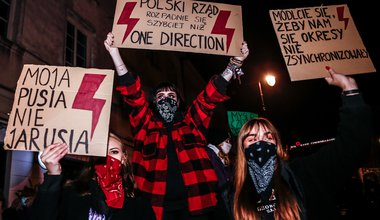 Polish protests at a demonstration over abortion restrictions 2020