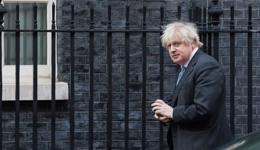 Boris Johnson arrives in Downing Street after PMQs at the House of Commons on 10 February, 2021