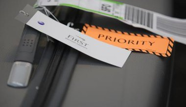 First class and priority tags.