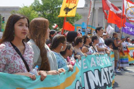 Women for Climate Justice contingent at the People's Climate March.