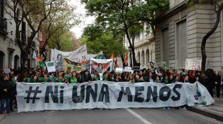 """Ni Una Menos (or """"Not one [woman] less"""") demonstrations in Argentina against machismo and femicides."""