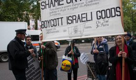 Protest in support of BDS. Demotix/Terry Scott. All rights reserved.
