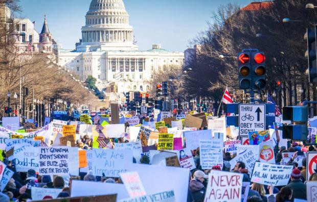 Protests against Trump's Muslim Ban in early 2017 were largely organised online. Ted Eytan:Flickr. Some rights reserved (3).jpg