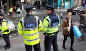 Police chatting on the street
