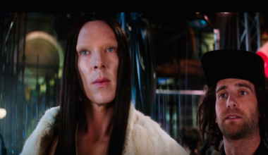 Non-binary trans model 'All' in Zoolander 2, played by cis actor Benedict Cumberbatch. Credit: Youtube still.