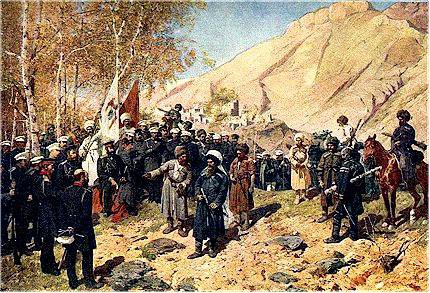 Roubaud F Capture of Imam Shamil by Russian troops in 1859 during the Caucasus War sized_0.jpg