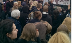 Rural feminist protest. Screenshot of detail of photo taken by Magdalena Muszel