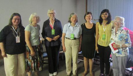 Seven women in a group photo