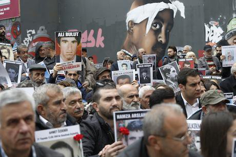 Saturday Mothers in search of justice for the disappeared in Istanbul. Sahan Nuhoglu:Demotix. All rights reserved..jpg