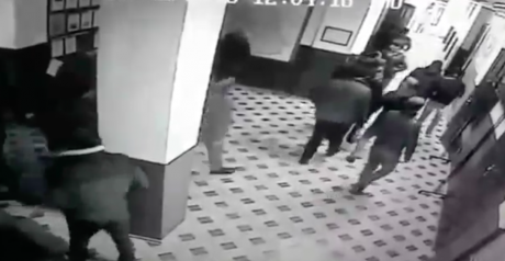 Attempts to enter the building
