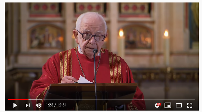 Monsieur Petr Piťha gives a sermon in St Vitus Cathedral, 2018.