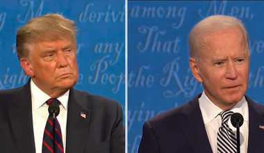 Biden and Trump at the first presidential debate