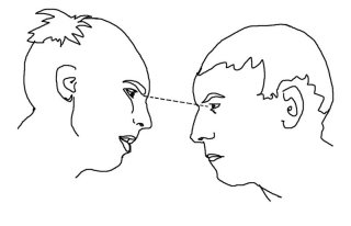 http://commons.wikimedia.org/wiki/Image:Staring_contest.jpg