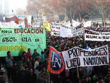 Student march in Chile, 2011