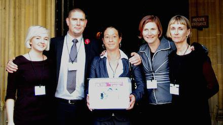 Team at HoL with petition.jpg