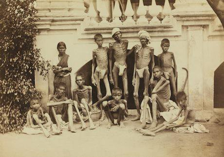 The effects of famine 1879. Wikimedia Commons:Willoughby Wallace Hooper. Some rights reserved..jpg
