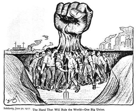 Solidarity, 1917. Wikimedia Commons/Ralph Chaplin. Some rights reserved.