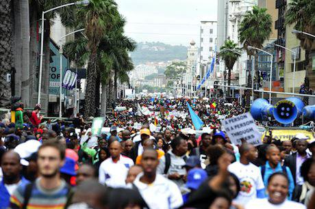 Thousands in Durban hold peace march against xenophobia. Reinhardt Hartzenberg:Demotix. All rights reserved.jpg
