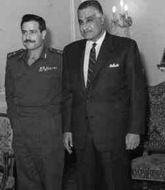 Mustafa Tlass and Gamal Abdel Nasser in Cairo, 1968