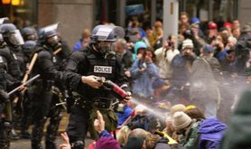 Protests against the WTO in Seattle in 1999