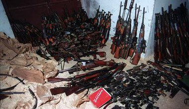 Weapons confiscated from the KLA, July 1999