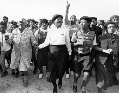Group of women marching