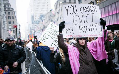 Women march through New York City the day after Trump's inauguration_ 21 January 2017.. Image_ KarlaAnnCoté_Flickr..jpg