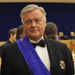 Vladimir Yakunin awarded a medal for 'Faith and Loyalty' in Moscow, December 2013.