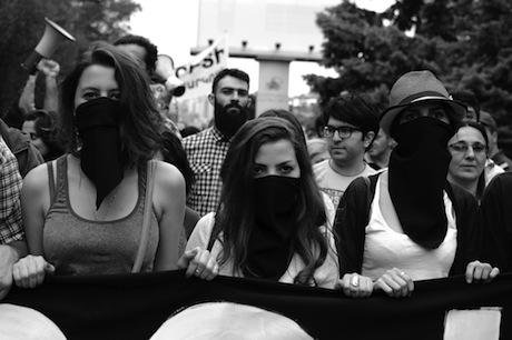 Yerevan 'No to Plunder' protest march 27 May 2015, against proposed electricity fee hikes. Narek Aleksanyan. All rights reserved