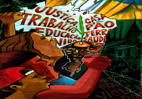"""Poster from the campaign """"O Grito dos Excluídos"""" (""""The Scream of the Excluded""""). Some rights reserved."""